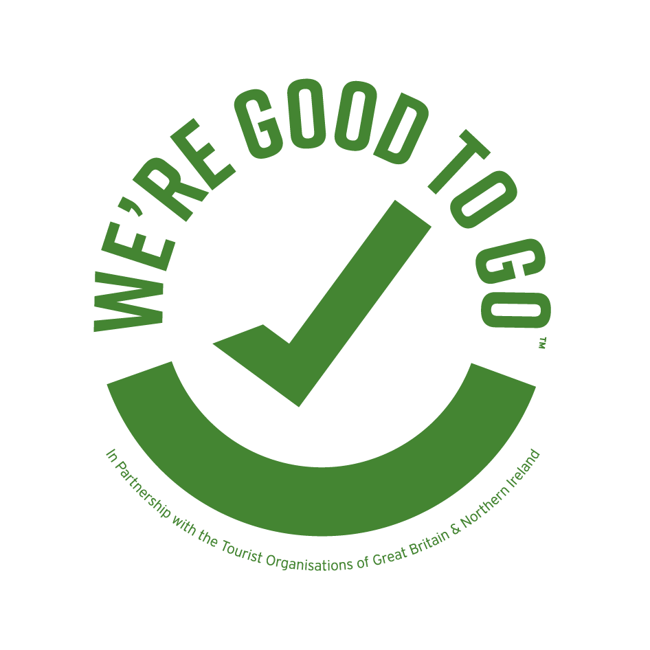 green tick with green writing which says 'we're good to go'